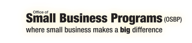Office of Small Business Programs, where small business makes a big difference.